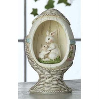 4 Table Top Decorations - Bunnies In Easter Egg