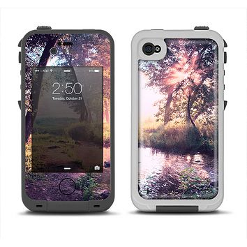 The Vivid Colored Forrest Scene Apple iPhone 4-4s LifeProof Fre Case Skin Set