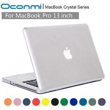Crystal Transparent Clear Hard Case for Apple Macbook Pro 13 cover 13.3 with Retina for Macbook pro 13 2016 A1706 A1708 case New