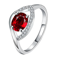 Petite Ruby Open Clasp Petite Ring