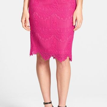 Women's CeCe by Cynthia Steffe Corded Lace Pencil Skirt,