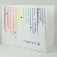 Colorful Rainbow Grunge Style Handmade Birthday Greeting Card