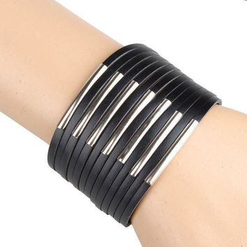 Pu Leather Bracelets & Bangles High Quality Cool Leather Bracelet Men Casual Style Fashion Men's Jewelry Factory Price C217 C218