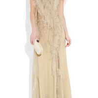 Donna Karan Embellished ruffled tulle gown – 60% at THE OUTNET.COM