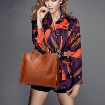 High Quality Casual Female Leather Handbags Trunk Tote Spanish Style Shoulder Bag