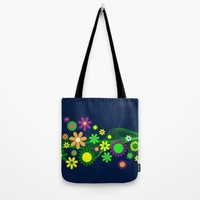 Floral Flower Design Tote Bag by WonderfulDreamPicture