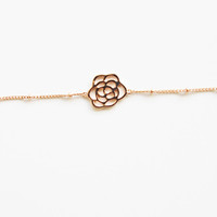 18K Rose Gold plated delicate bracelet