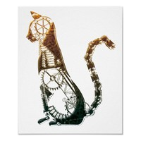 Steampunk cat posters from Zazzle.com