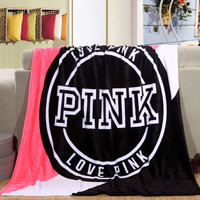 Promotion!Pink VS Secret Blanket Manta Fleece Blanket Throws on Sofa/Bed/Plane Travel Plaids Hot Limited Battaniye 130cmx160cm