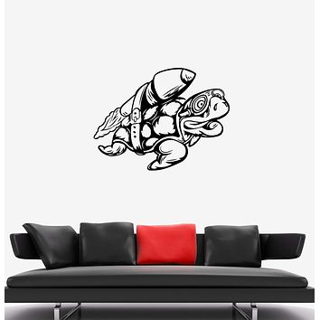 Wall Decal Animal Turtle Ocean Sea Reptile Swim Mural Vinyl Sticker (ed1102)