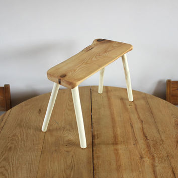 Wood bench - Wood furniture - Small wooden stool for kitchen or living room - home gifts - ash furniture - small bench - Scandinavian design