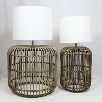 Rattan Lamp And Shade