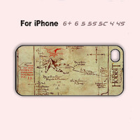 The Hobbit Lonely Mountain Map Case iPhone 4 4s 5 5c 6 Plus Hot iPhone 5s Cover-5 Colors Available