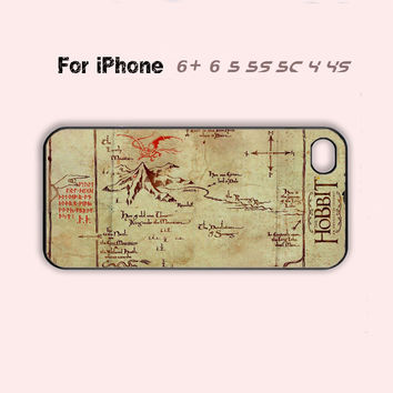 The Hobbit Lonely Mountain Map Case iPhone 4 4s 5 5c 6 Plus 7 7 Plus Hot iPhone 5s Cover-5 Colors Available