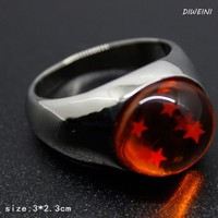 1Pcs Hot sale Dragon Ball Ring Crystal Balls With Four Star DragonBall Accessories
