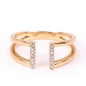 Adina Reyter Pave Double Double Bar Ring
