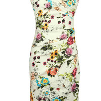 Cupshe Flower Bomb Floral Pencil Dress