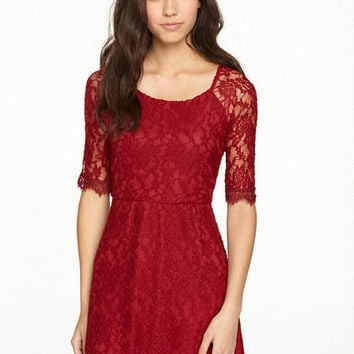 Harper Lace Skater Dress