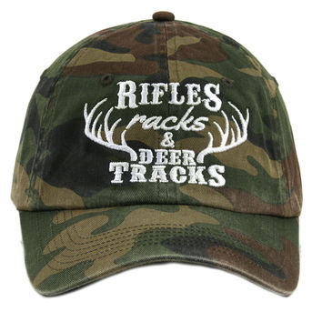Rifles Racks and Deer Tracks  Baseball Hats