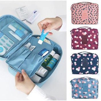 """""""Iconic beauty"""" Compact Makeup toiletry travel organizer Bag"""