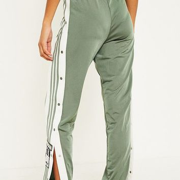 adidas Originals Adibreak 3-Stripe Khaki Taping Popper Track Pants | Urban Outfitters