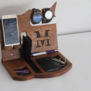 Personalized Gift for Men, Docking Station, Charging station, Gift for Men, Boyfriend Christmas Gift, Gift  for Husband, Gift for Mens, Men
