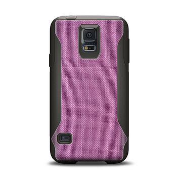 The Purple Fabric Texture Samsung Galaxy S5 Otterbox Commuter Case Skin Set