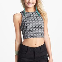Lily White Seamed Crop Tank (Juniors) | Nordstrom
