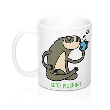 Good Morning Sloth Mug