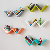 Origami Wall Shelf (Aqua) | The Land of Nod