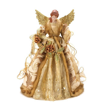 GOLDEN ANGEL TREE TOPPER