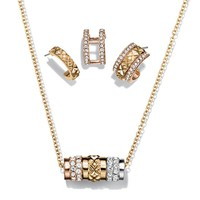 Triple Threat Necklace and Earring Set
