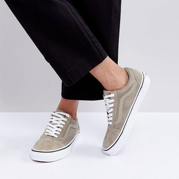 Vans Boom Boom Old Skool Sneakers In Khaki at asos.com