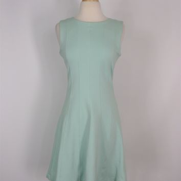 Dress Fit & Flare Ponte Knit Panel Dress Zara Mint Green Dress M