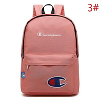 Champion New fashion embroidery letter logo couple backpack bag Pink