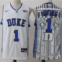 Best Sale Online NCAA University Basketball Jersey Duke Blue Devils # 1 Kyrie Irving White