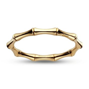 Gucci Bamboo Medium Bracelet in Yellow Gold