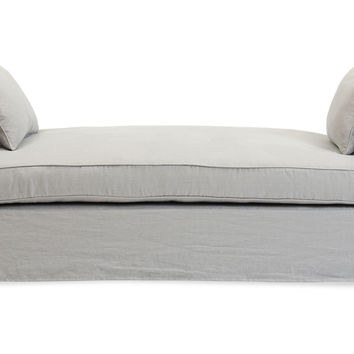 Moss Studio, Reed Linen Daybed, Cadet Gray, Daybeds
