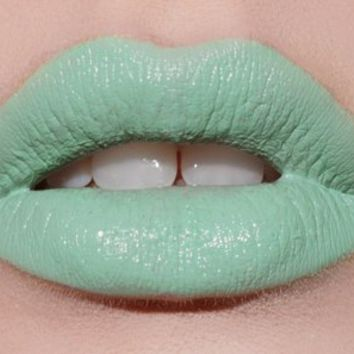 Lime Crime Highly Pigmented and Long-Lasting Opaque Lipstick with Bold Color - Mint To Be