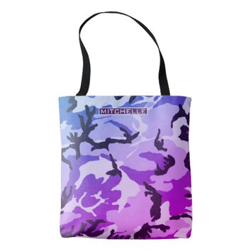 Personalized Fashion Camo Tote Bag