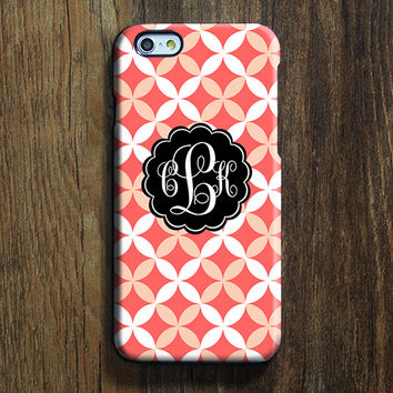 Pink White Quatrefoil Monogram iPhone 6 Case iPhone 6 plus Case Custom iPhone 5S Case iPhone 5C Case iPhone 4S Case Galaxy S6 Edge Case 122
