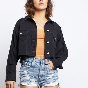 Cut To Black Denim Jacket