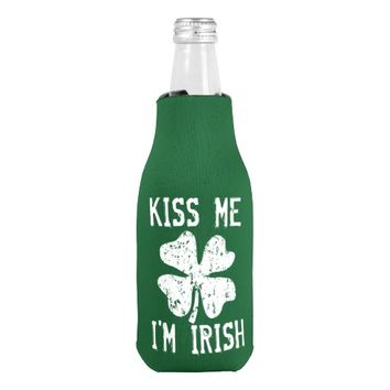 KISS ME I'M IRISH St Patricks Day bottle coolers Bottle Cooler