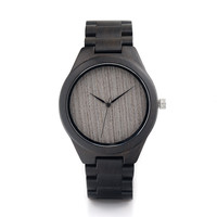 BOBOBIRD H06 Brand Design Ebony Wooden Watch for Men full Nature Wooden Strap Quartz Watches Brand Designer as Best Gift Relogio