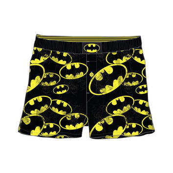 Batman Distressed Logo All Over Print Mens Boxers