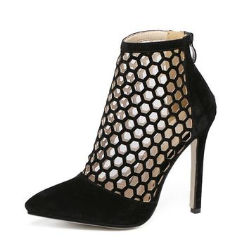 Cut out Pointed Toe Bootie