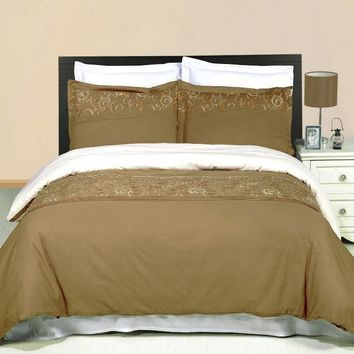 Geneva Embroidered 3-Piece Duvet cover Set