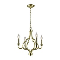 Livonia 4-Light Chandelier in Polished Gold