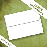 A6 Size White Envelopes | Pack of 25
