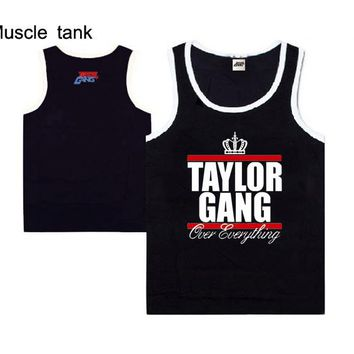 2018 new style casual hip hop good quality taylorgang men's muscle tank tops for men and women plus size  hip hop street dance